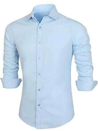 Emiqude Mens Casual Slim Fit Long Sleeve Solid Basic Business Dress Shirt Medium Blue Emiqude http://www.amazon.com/dp/B00NJJI5IS/ref=cm_sw_r_pi_dp_4cc7wb1RAWF2X