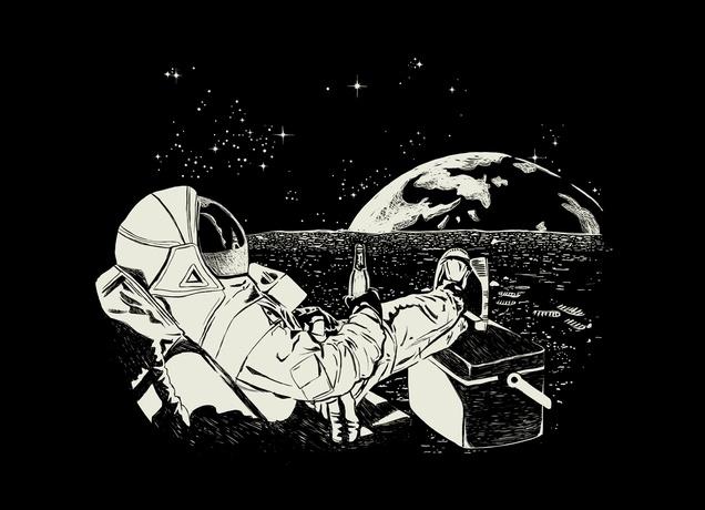 """Astronaut TV"" - Threadless.com - Best t-shirts in the world"