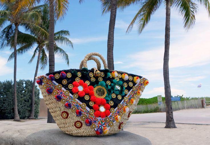 """Sicily Bag """"Gigi"""".  Sicilian straw bag/ coffa."""