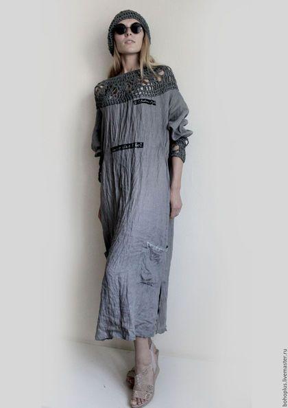 """Платья ручной работы. Платье из тонкого льна """"Серафима"""". Boho love. Интернет-магазин Ярмарка Мастеров. Однотонный, бохо"""