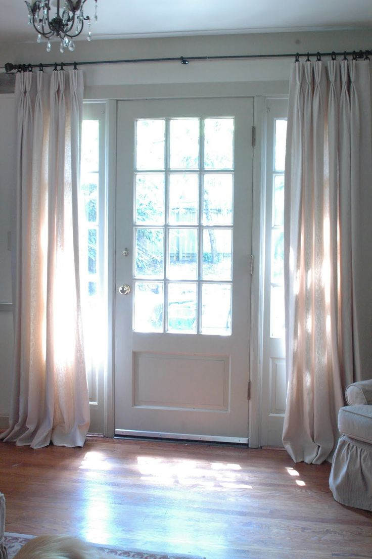 Front door sidelight curtains - More Hanging Curtains By The Front Door Only If Curtains Could Be Hung Without