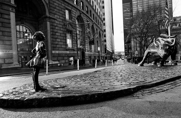 This 'Fearless Girl' Sculpture Suddenly Appeared On Wall Street Today. Here's Why.