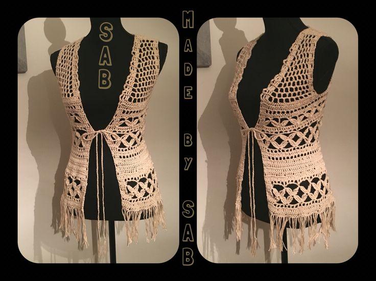 Nog een Summer Bliss Vest gehaakt (Garnstudio.nl) - boho - #crochet