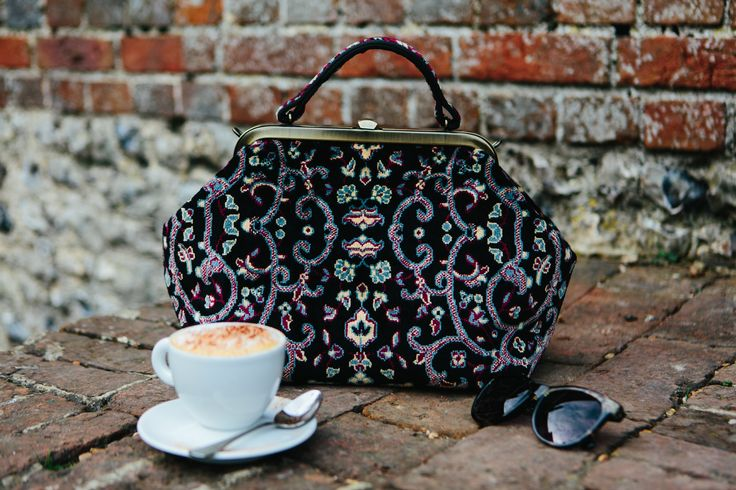 #Carpetbags coffee break enjoying a ray of sunshine! All our bags, luggage and accessories are handcrafted in England! #handcrafted #handmade #madeinEngland #handbags #luggage