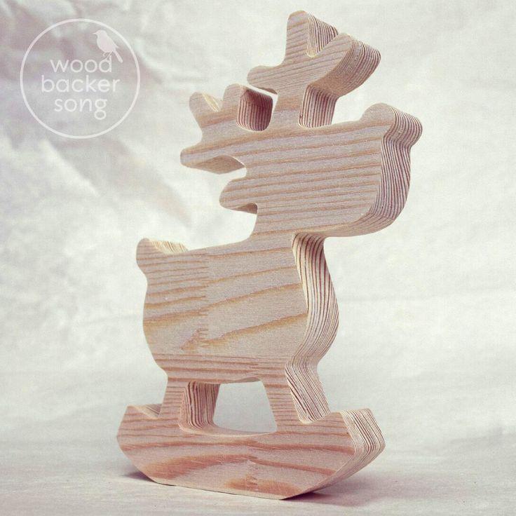 Деревянные фигурки на заказ! Олень из массива сосны (высота 15 см.). Стоимость:  300 руб.