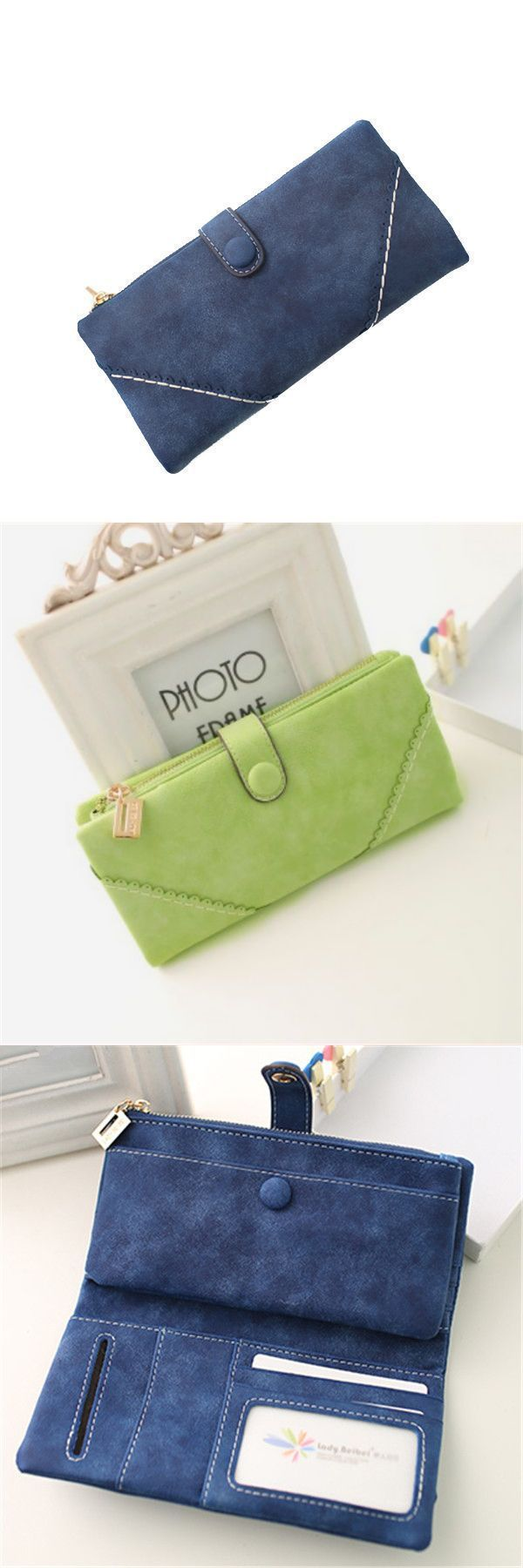 Wallets and wristlets women synthetic pu leather clutch bag zipper button purse #8 #free #wallets #prestige #portraits #triple #d #wallets #wallets #quiksilver #wallets #trifold