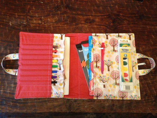 make a folder for kids colouring books