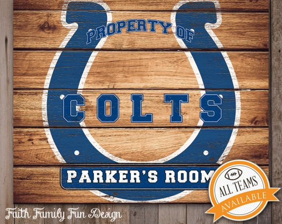 Nfl Indianapolis Colts Team Sign Printable Personalized