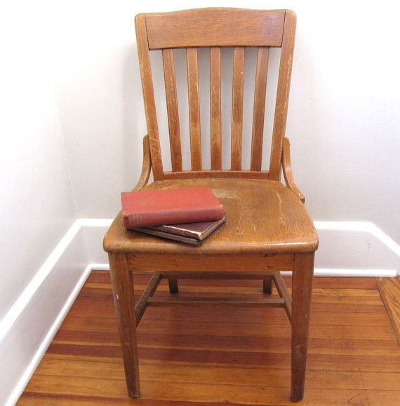 vintage wood chair teacher adult size mid century chairs oak chairs and vintage. Black Bedroom Furniture Sets. Home Design Ideas