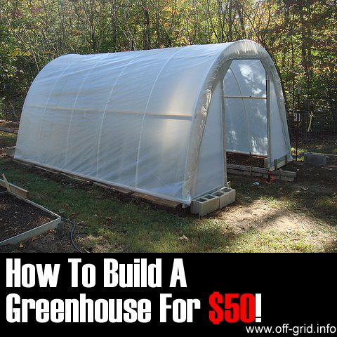 "Please Share This Page: How To Build A $50 Greenhouse – Image To Repin / ShareImage – doorgarden.com We found a great tutorial with full detailed instructions on how to build your own greenhouse or ""hoop tunnel"" on a budget. It is well written and has a lot of photos showing each step of the [...]"