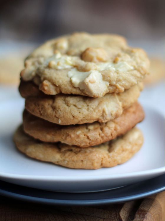 witte chocolade macademia cookies