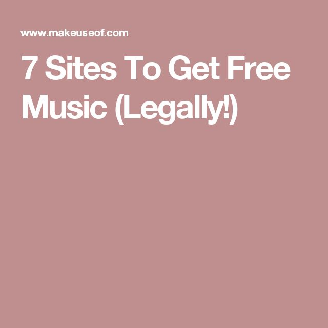 7 Sites To Get Free Music (Legally!)