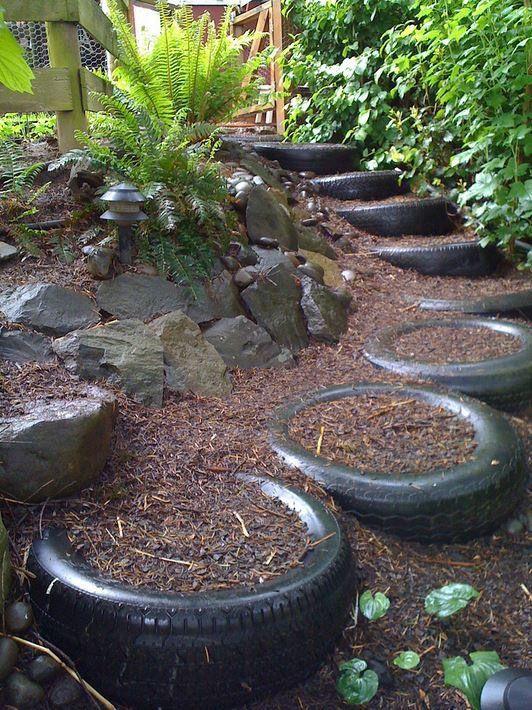 Ils peuvent également être utilisés comme des escaliers de jardin