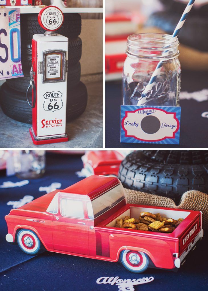 Vintage Garage Inspired Adult Birthday Party Auto Party
