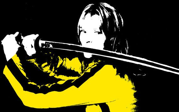 The Bride From Kill Bill Pop Art Painting Via Etsy