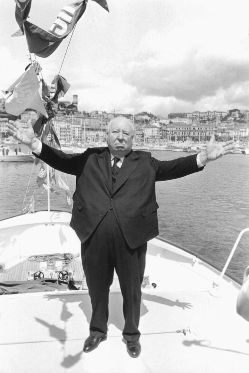 Alfred Hitchcock at the 1972 Cannes Film Festival.