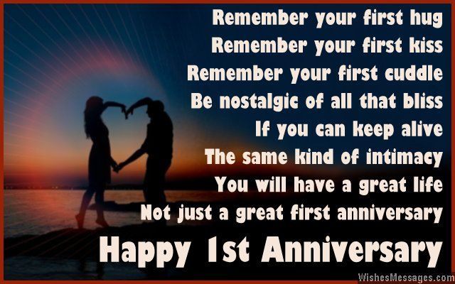 1st Anniversary Poems For Couples Happy First Wedding