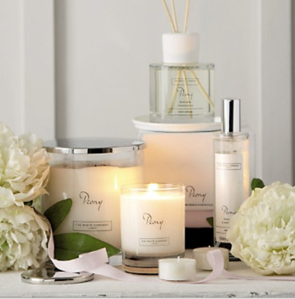 Peony candles & diffusers by the white company