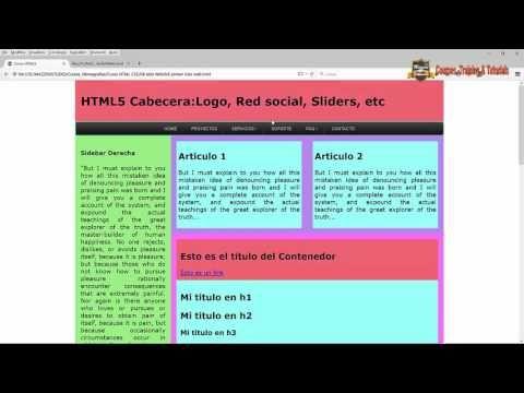 Video 2: Componentes basicos y etichetas