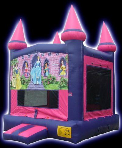 Texas Moonwalk Rentals - Disney Princess Inflatable Moonwalk Slide