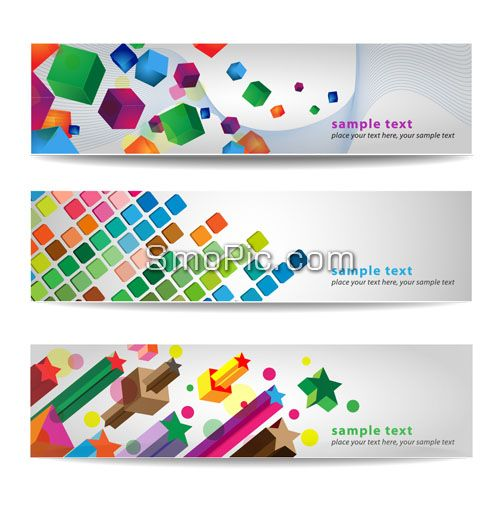 102_smopic.com_3 Colorful creative website banner background design template illustrator AI, TIF Free Download