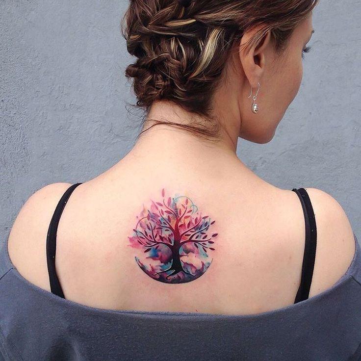 "559 Likes, 14 Comments - Analisbet Luna - Alf Tattoos (@analisbetluna) on Instagram: ""Watercolor tree of life for Su at @sevenfoldtattoo  Thanks pretty girl. #analisbetluna…"""