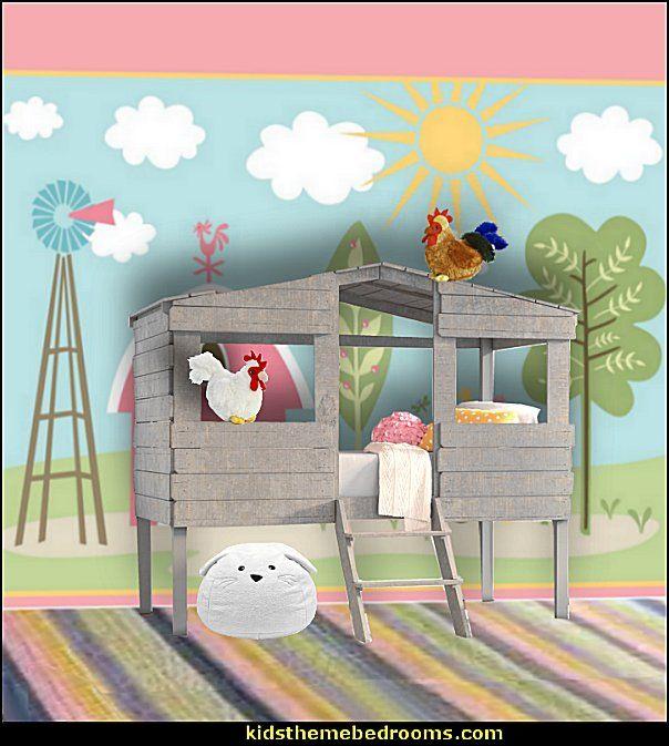 Farm Theme Bed Loft Bed Girls Room Farm Theme Bedroom Decorating Ideas Horse Theme Bedroom Decorating Boy Room Themes Farm Bedroom Kids Baby Boy Room Themes