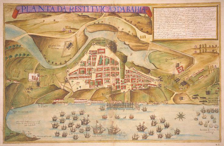 Mapa de Salvador em 1631 por Teixeira Albernaz I.