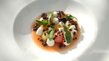 Melonsallad med ruccola och yoghurt | SVT recept