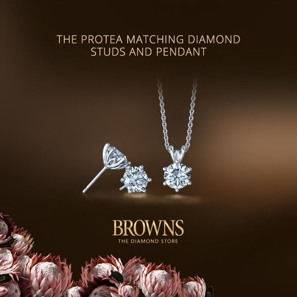 THE PROTEA COLLECTION   This quintessentially South African design has been inspired by our national flower, the King Protea which is a symbol of endurance and strength. As in nature the secret to perfection lies in the balance between function and form. Here petals cradle and protect whilst optimal light enhances the diamond's brilliance and shine.   www.brownsjewellers.com