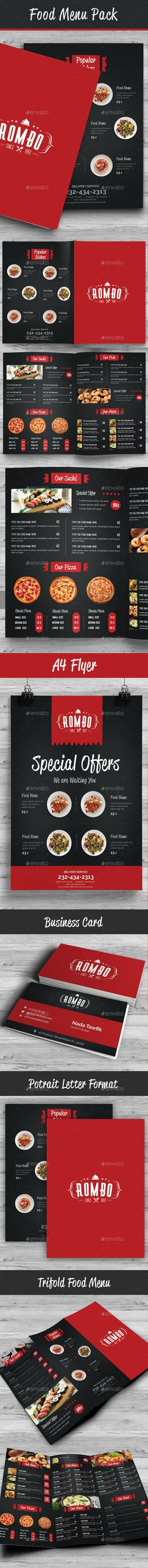 Food Menu Pack Template PSD #design Download: http://graphicriver.net/item/food-menu-pack-10/14174869?ref=ksioks