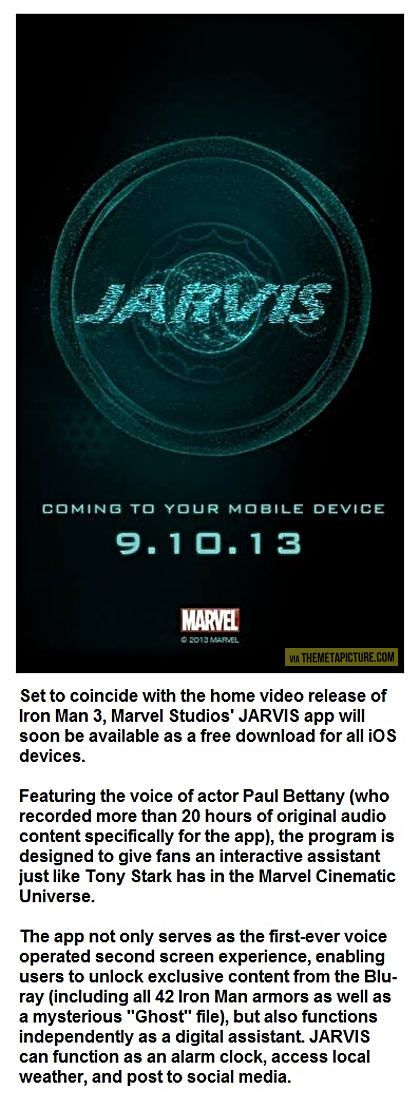 Who doesn't want to have Jarvis on their phone