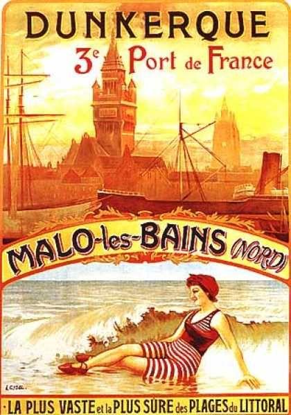 Dunkerque par A. Cysek (1900).....Reépinglé par  Maurie Daboux ⊰✿
