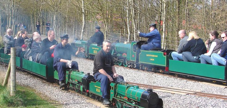 """Eastleigh Lakeside Steam Railway is a dual gauge 10¼"""" / 7¼"""" miniature railway running from its main station Eastleigh Parkway to Monks Brook Halt. Description from bournemouth.co.uk. I searched for this on bing.com/images"""