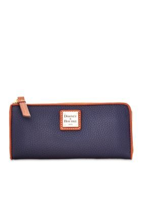 Dooney  Bourke Midnight Blue Leather Zip Wallet
