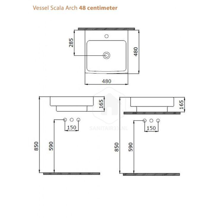 Wastafel Vessel Scala Arch Mat Zwart