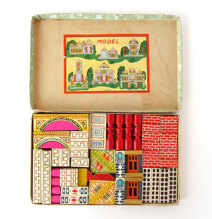 Vintage Acme Building Blocks by Suzanna Scott