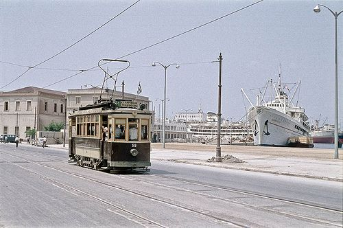 Pireaus, July 1959 and the old trams