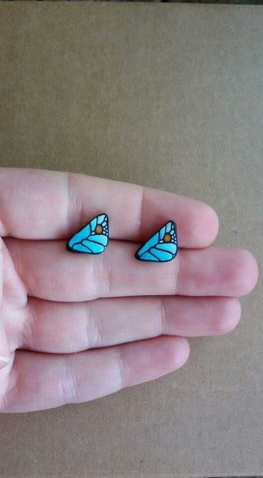 Polymer clay tiny earrings