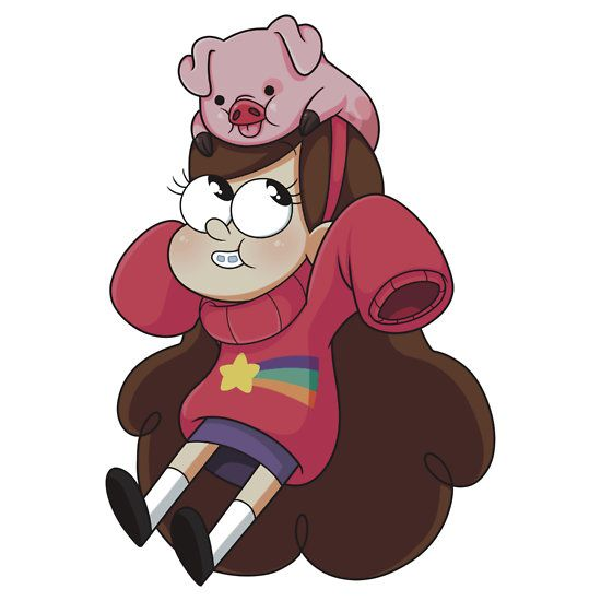 So adorable, mabel and waddles :D this is ether me or the kid of my dreams!! Also I want a pet pig...