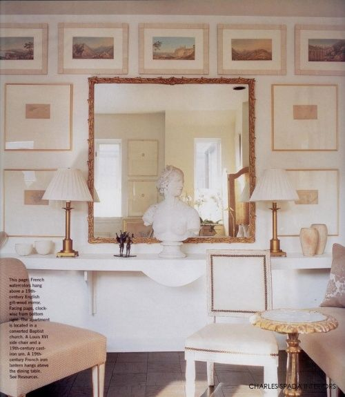 Jean-Marc Fray Antiques | Current Inspiration / salon-style art installation #neutrals #interiordesign