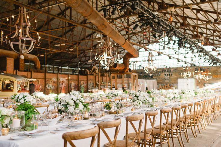Harvest Tables for Wedding at Evergreen Brick Works