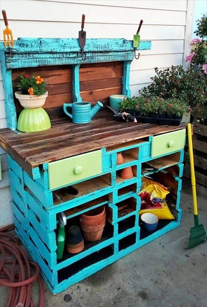DIY Pallet Potting Table Easy Pallet