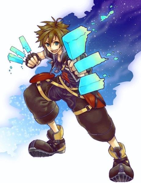 Sora with ICE CREAM POWER- Kingdom Hearts II