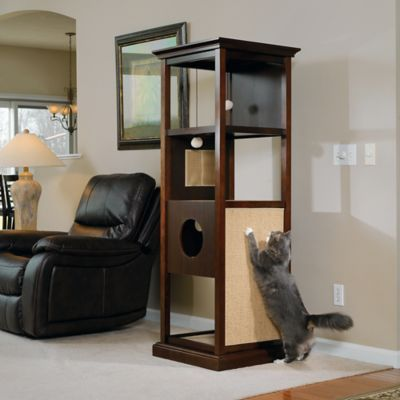 Sauder Pet Traditional Wood Cat Tower in Espresso - Bed Bath & Beyond