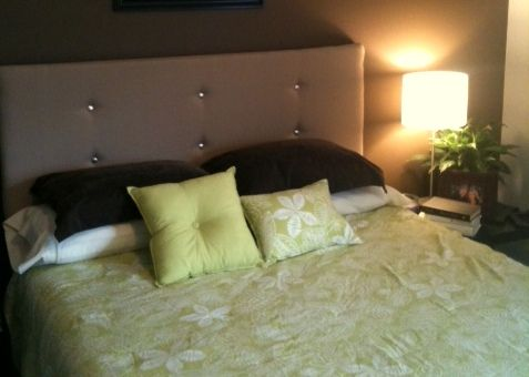 How to Make a Contemporary Upholstered Headboard for Under $30