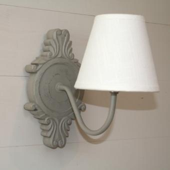Applique murale bois gris d co de charme sphere inter for Applique murale wc