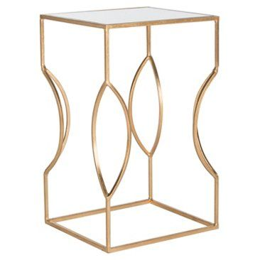 Check out this item at One Kings Lane! Brynn Mirrored Side Table, Gold