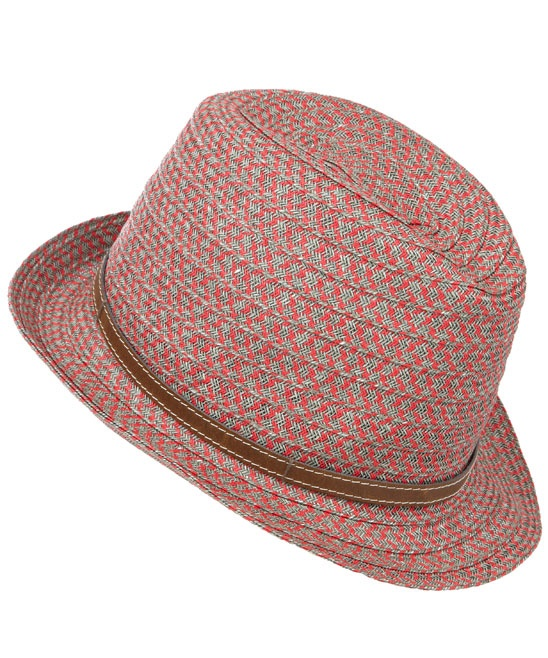 Red Zig Zag Woven Hat, Grevi