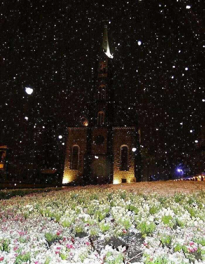 Snow in Gramado RS - Brasil